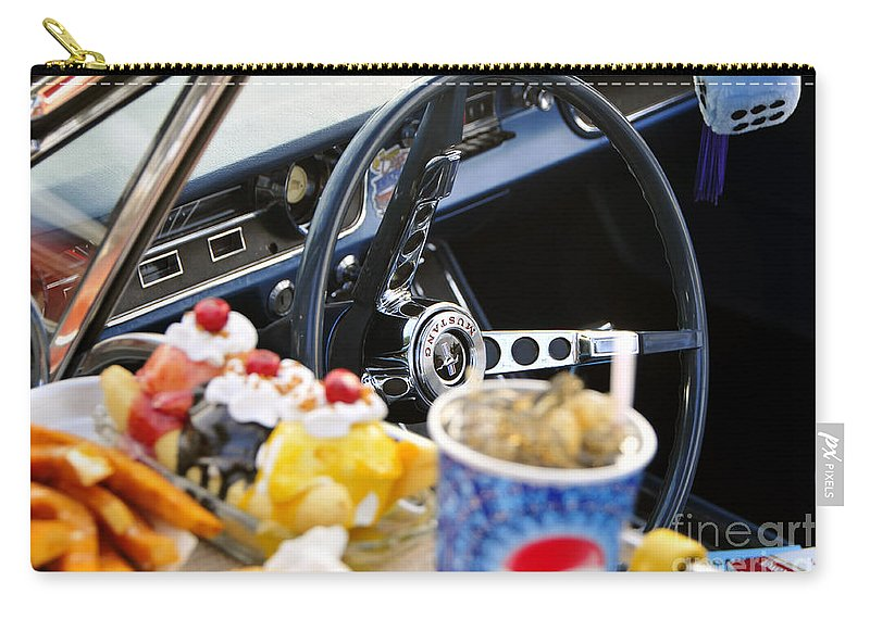 Ford Carry-all Pouch featuring the photograph 1960s Cool by David Lee Thompson
