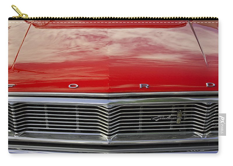 Grill Carry-all Pouch featuring the photograph 1960s Ford Galaxie by Robin Lewis