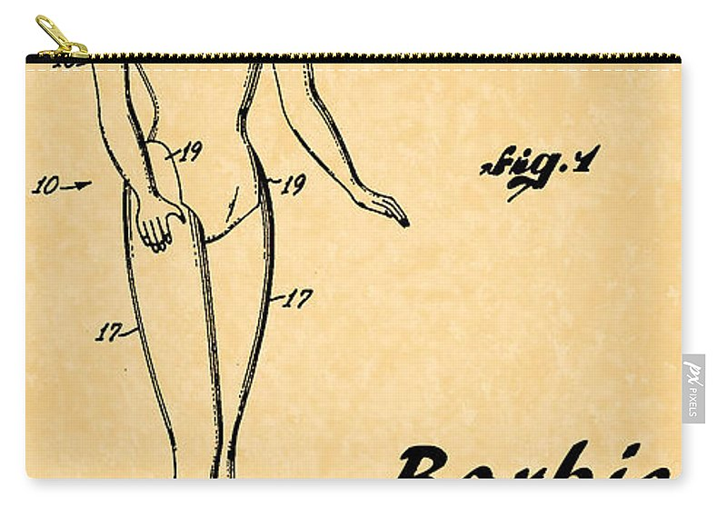 1961 Barbie Doll Patent Art 5 1961 Carry All Pouch