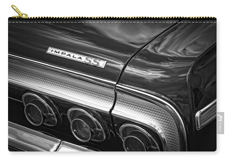 1964 Carry-all Pouch featuring the photograph 1964 Chevrolet Impala Ss by Gordon Dean II