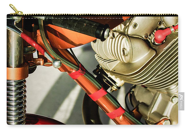 1964 Ducati 250cc F3 Corsa Motorcycle Carry-all Pouch featuring the photograph 1964 Ducati 250cc F3 Corsa Motorcycle -2727c by Jill Reger