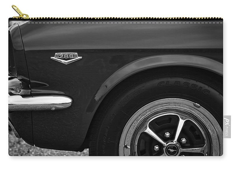 1964.5 Carry-all Pouch featuring the photograph 1964.5 Ford Mustang - 289 High Performance by Gordon Dean II