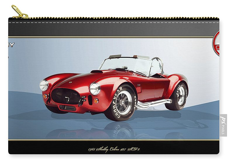 Art Carry-all Pouch featuring the photograph 1965 Red Shelby Cobra 427SC by Serge Averbukh