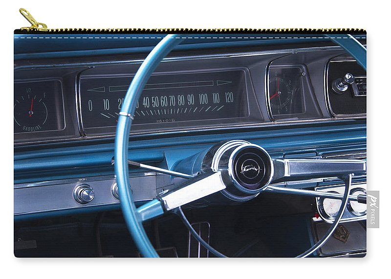 1966 Chevrolet Impala Carry-all Pouch featuring the photograph 1966 Chevrolet Impala Dash by Glenn Gordon