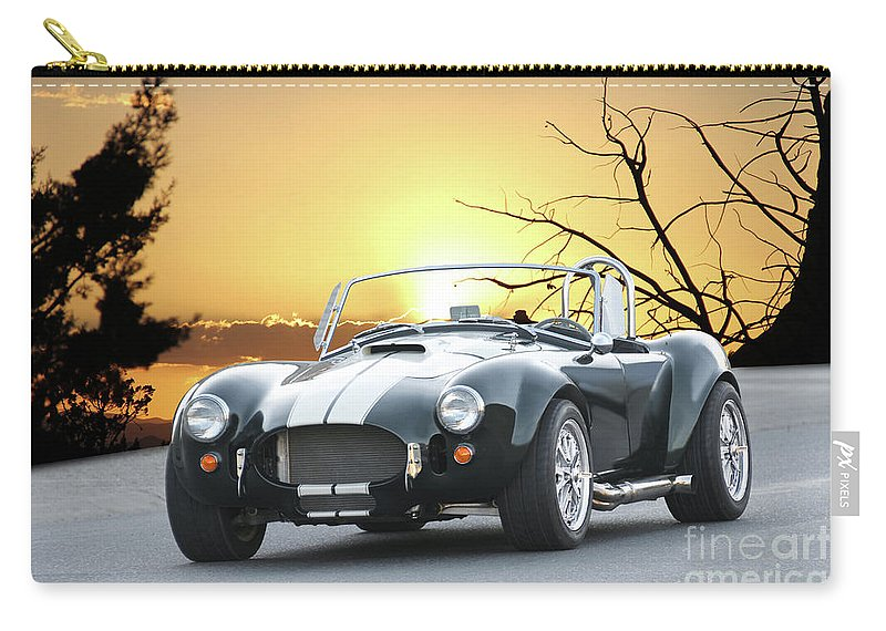 Auto Carry-all Pouch featuring the photograph 1966 Shelby Cobra 427 'replica' I by Dave Koontz