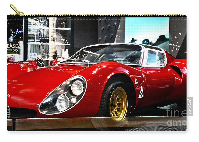 Auto Carry-all Pouch featuring the photograph 1967 33 Straddle Alpha Romeo by Alan Look