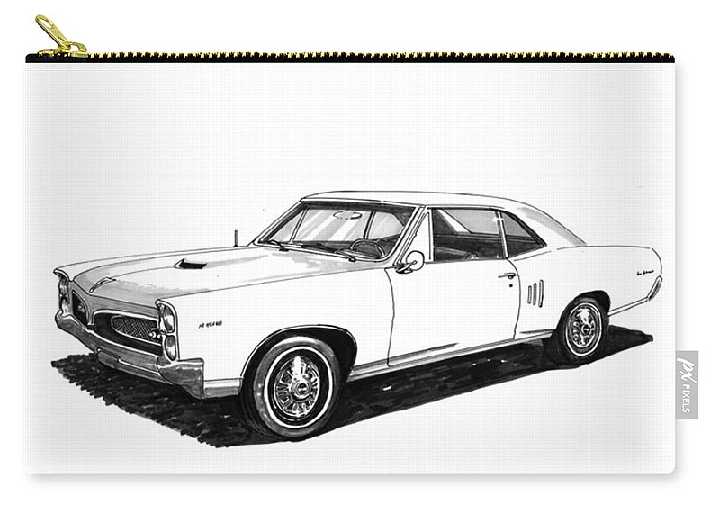 1967 Carry-all Pouch featuring the painting 1967 Pontiac Gto by Jack Pumphrey