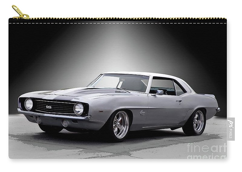 Automobile Carry-all Pouch featuring the photograph 1968 Chevrolet Camaro Ss Ll by Dave Koontz