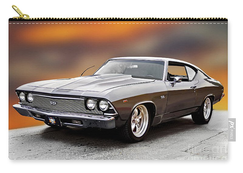 Automobile Carry-all Pouch featuring the photograph 1968 Chevrolet Chevelle Ss L by Dave Koontz