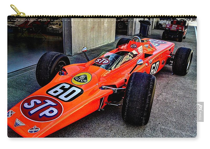 Josh Williams Photography Carry-all Pouch featuring the photograph 1968 Lotus 56 Turbine Indy Car #60 Angle by Josh Williams