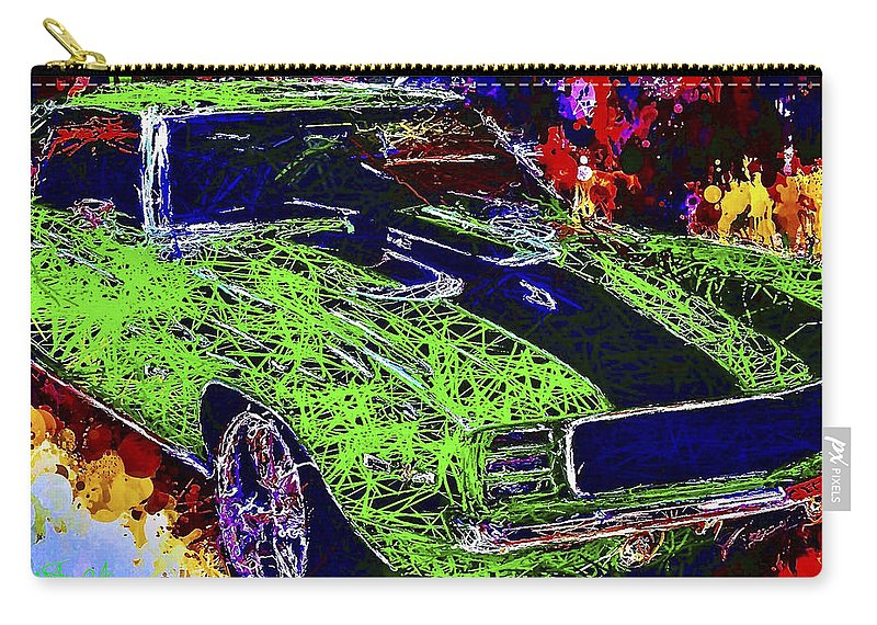 Camaro Carry-all Pouch featuring the mixed media 1969 Camaro Z28 by Al Matra
