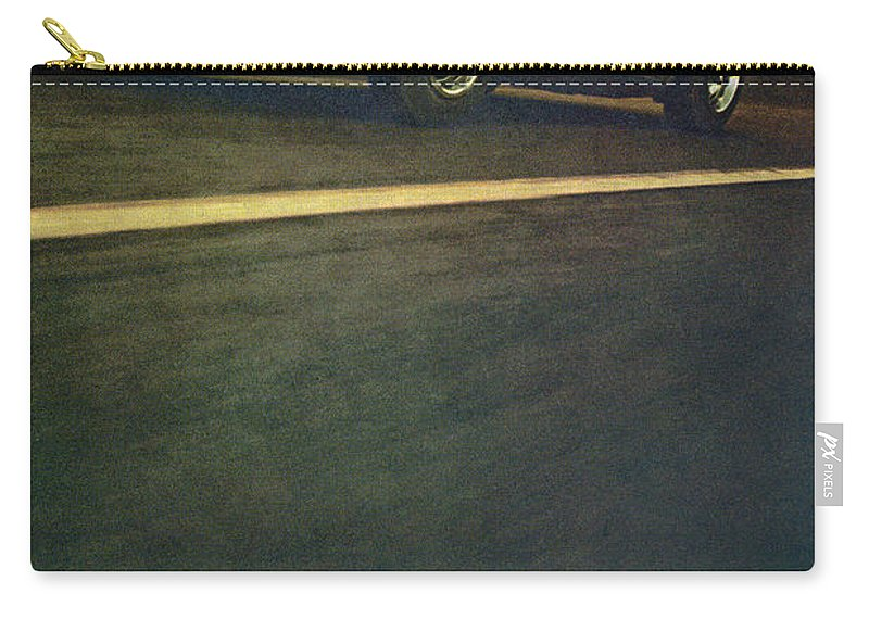 1969 Carry-all Pouch featuring the digital art 1969 Chevrolet Corvette by Digital Repro Depot