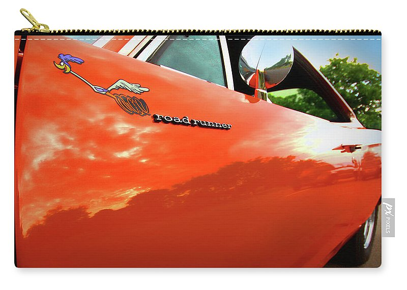 1969 Carry-all Pouch featuring the photograph 1969 Plymouth Road Runner 440 Roadrunner by Gordon Dean II