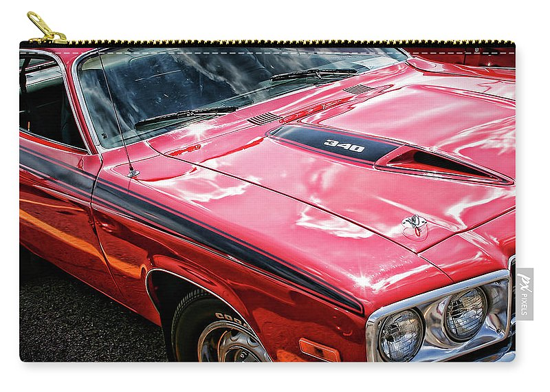 1971 Carry-all Pouch featuring the photograph 1974 Plymouth Road Runner 340 by Gordon Dean II