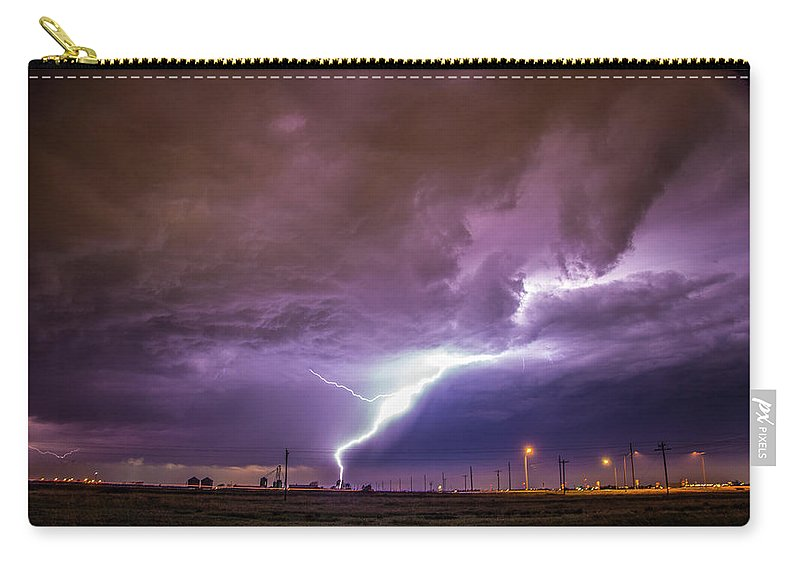 Nebraskasc Carry-all Pouch featuring the photograph 1st Severe Night Tboomers Of 2018 015 by NebraskaSC