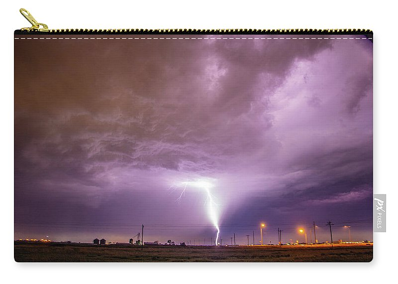 Nebraskasc Carry-all Pouch featuring the photograph 1st Severe Night Tboomers Of 2018 016 by NebraskaSC