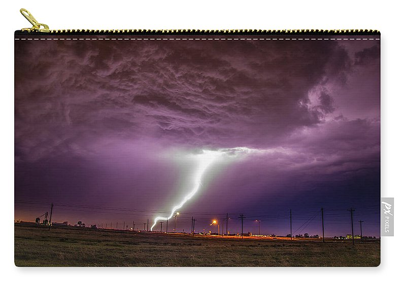 Nebraskasc Carry-all Pouch featuring the photograph 1st Severe Night Tboomers Of 2018 018 by NebraskaSC