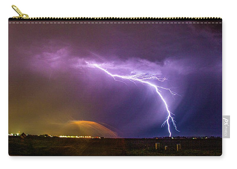 Nebraskasc Carry-all Pouch featuring the photograph 1st Severe Night Tboomers Of 2018 022 by NebraskaSC