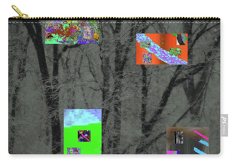 Walter Paul Bebirian Carry-all Pouch featuring the digital art 2-18-2057a by Walter Paul Bebirian