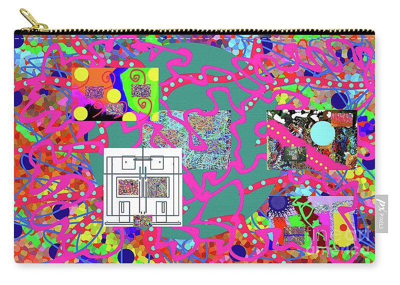 Walter Paul Bebirian Carry-all Pouch featuring the digital art 2-19-2057f by Walter Paul Bebirian