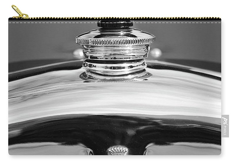 1926 Cadillac Series 314 Custom Carry-all Pouch featuring the photograph 1926 Cadillac Series 314 Custom Hood Ornament by Jill Reger