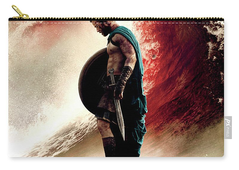 300 Rise Of An Empire 2014 Carry-all Pouch featuring the digital art 300 Rise Of An Empire 2014 by Geek N Rock