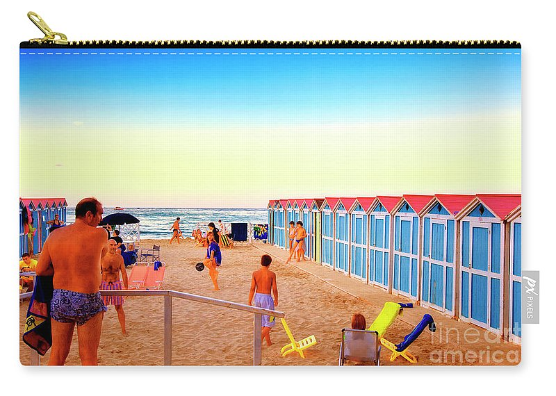Beach Carry-all Pouch featuring the photograph A Day At The Beach by Madeline Ellis