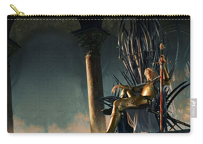 A Song Of Ice And Fire Carry-all Pouch featuring the digital art A Song Of Ice And Fire by Mery Moon