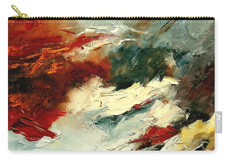 Abstract Carry-all Pouch featuring the painting Abstract 9 by Pol Ledent