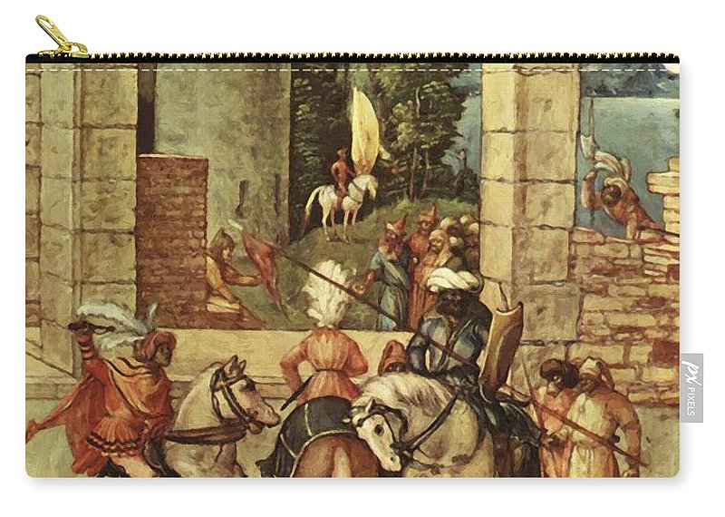 Adoration Carry-all Pouch featuring the painting Adoration Fragment by Durer Albrecht