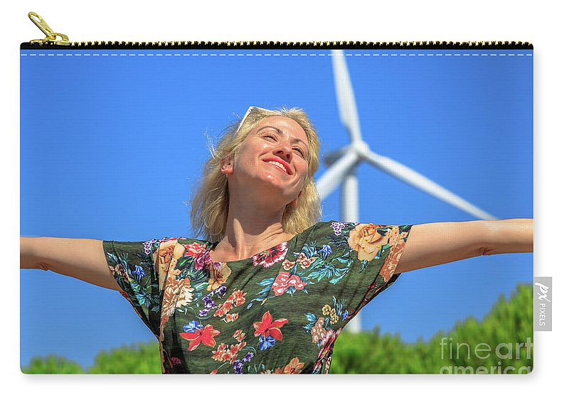 Wind Turbines Carry-all Pouch featuring the photograph Alternative Energy Concept by Benny Marty