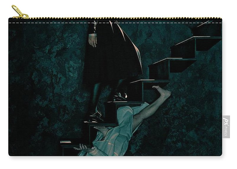 American Horror Story Asylum 2012 Carry-all Pouch featuring the digital art American Horror Story Asylum 2012 by Geek N Rock