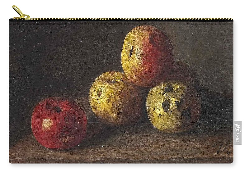 Antoine Vollon Carry-all Pouch featuring the painting Apples by MotionAge Designs