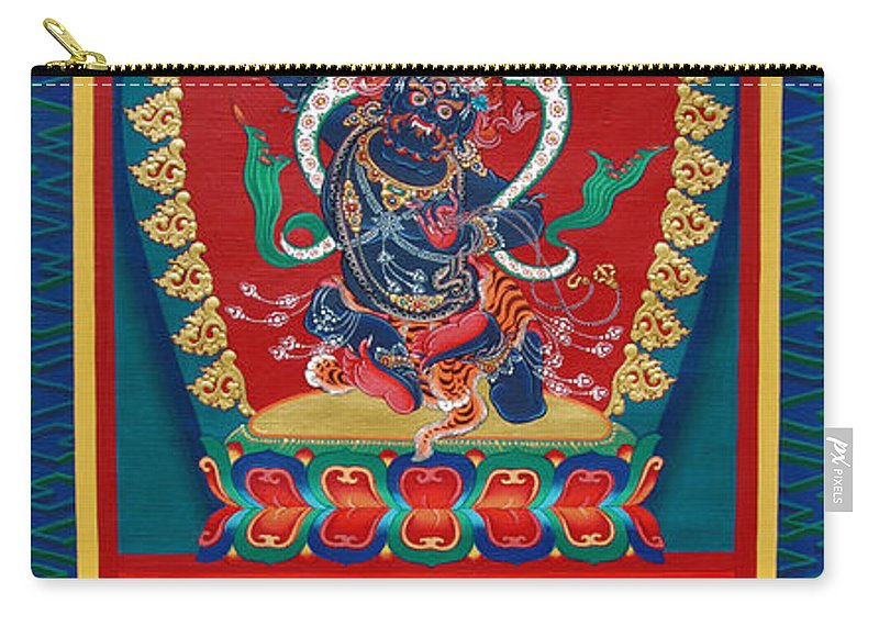 Thangka Carry-all Pouch featuring the painting Arya Achala - Immovable One by Sergey Noskov