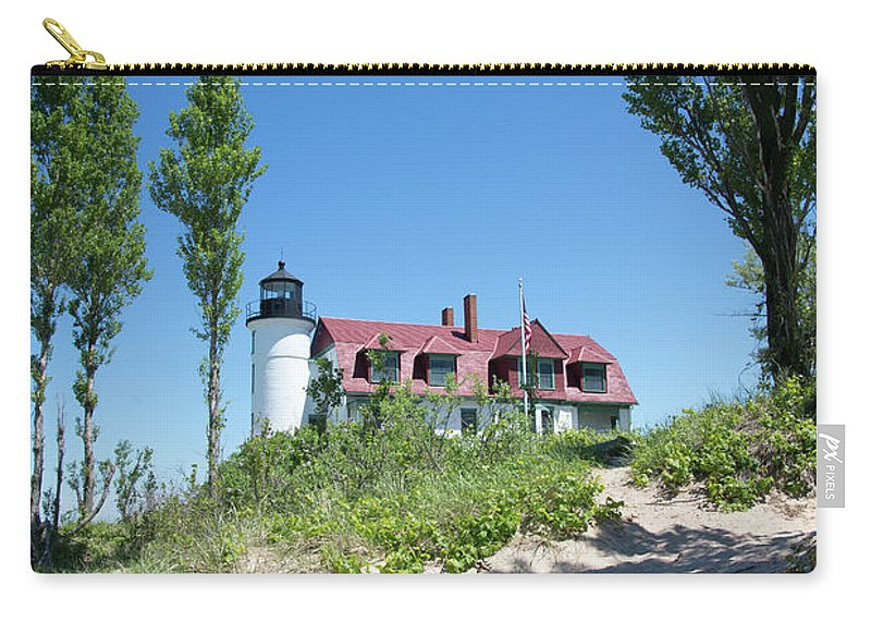 Point Betsie Carry-all Pouch featuring the photograph Atop The Dune by Linda Kerkau