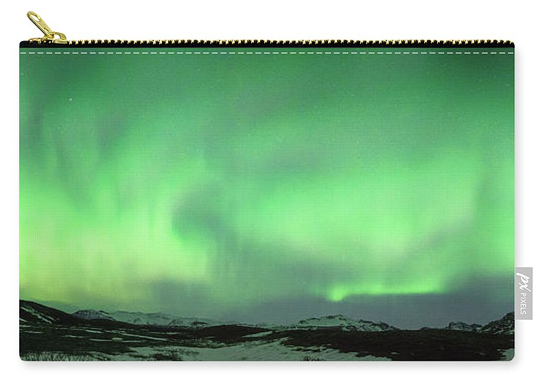 Iceland Carry-all Pouch featuring the photograph Aurora Borealis Or Northern Lights. by Andy Astbury