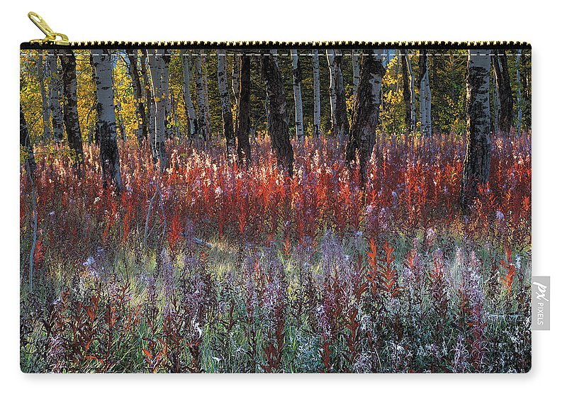 Fireweed Carry-all Pouch featuring the photograph Autumn Light by Leland D Howard