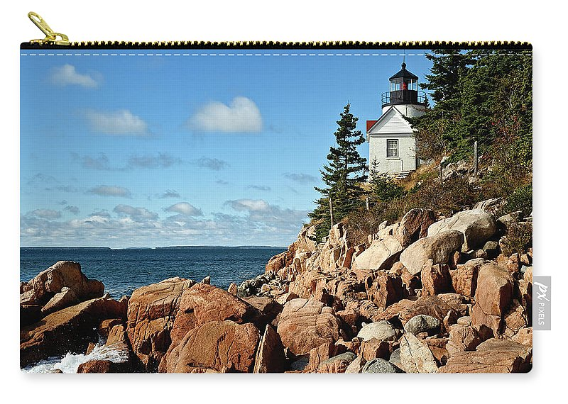 Acadia National Park Carry-all Pouch featuring the photograph Bass Harbor Lighthouse by John Greim