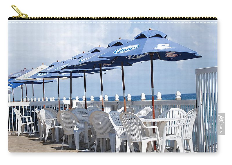 Chairs Carry-all Pouch featuring the photograph Beer Unbrellas by Rob Hans