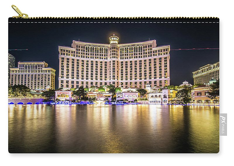 Nevada Carry-all Pouch featuring the photograph Bellagio Hotel On Nov, 2017 In Las Vegas, Nevada,usa. Bellagio I by Alex Grichenko