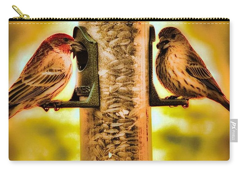 Carry-all Pouch featuring the photograph 2 Bird's Eating by Jeremy Owens