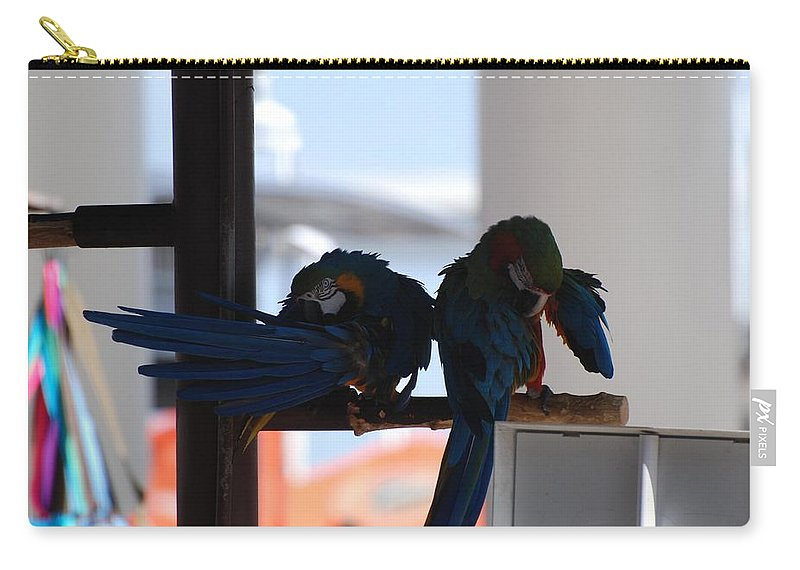 Mac Caw Carry-all Pouch featuring the photograph 2 Birds by Rob Hans
