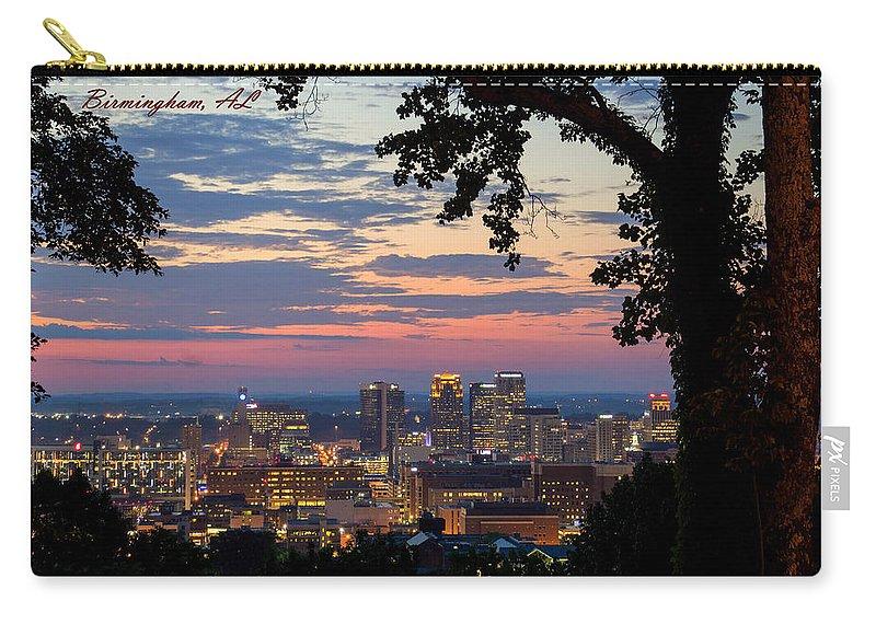 Downtown Birmingham Carry-all Pouch featuring the photograph Birmingham Skyline by Jeffery Gordon