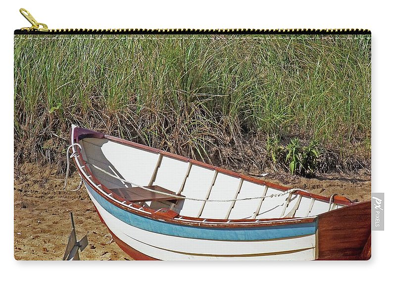 Boat Carry-all Pouch featuring the photograph Boat And Anchor by Marilyn Holkham