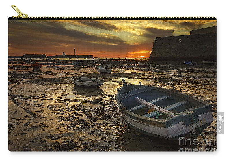 Andalucia Carry-all Pouch featuring the photograph Boats On La Caleta Cadiz Spain by Pablo Avanzini