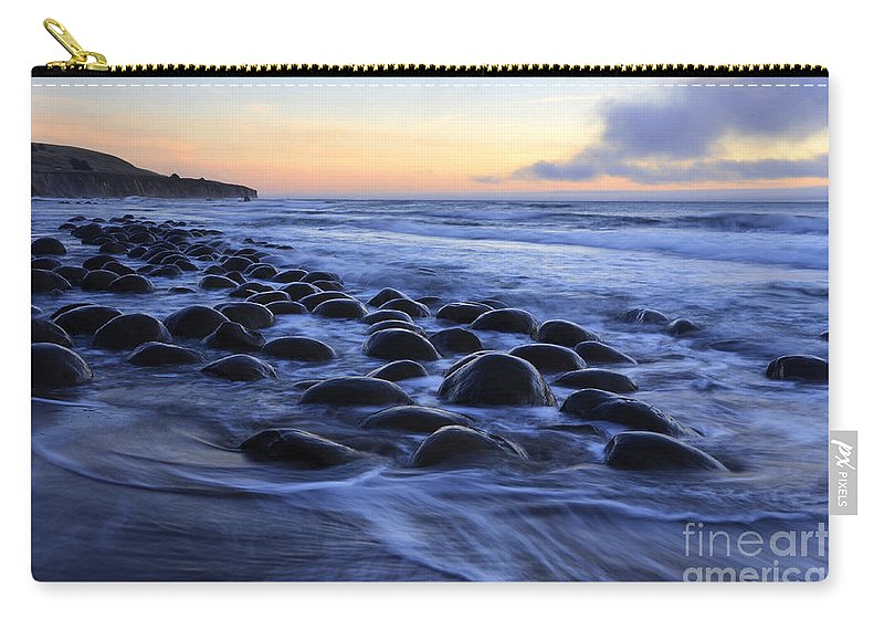 Bowling Ball Beach Carry-all Pouch featuring the photograph Bowling Ball Beach by Bob Christopher
