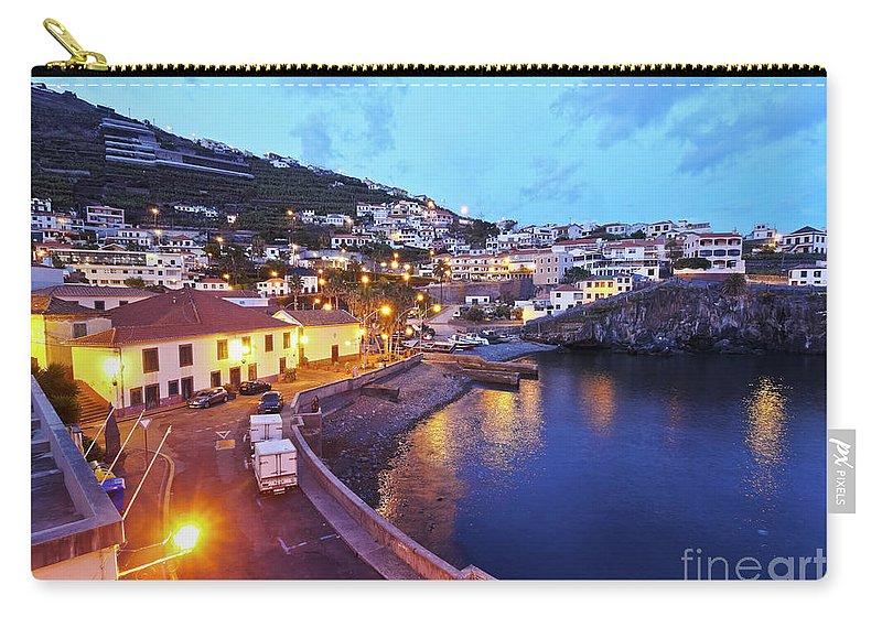 Portugal Carry-all Pouch featuring the photograph Camara De Lobos, Madeira by Karol Kozlowski