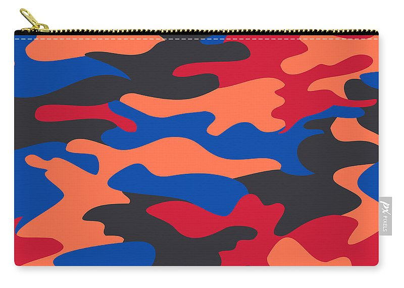 Seamless Carry-all Pouch featuring the digital art Camouflage Pattern Background Seamless Clothing Print, Repeatabl by Svetlana Corghencea