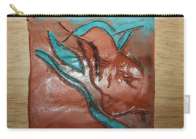 Jesus Carry-all Pouch featuring the ceramic art Care - Tile by Gloria Ssali