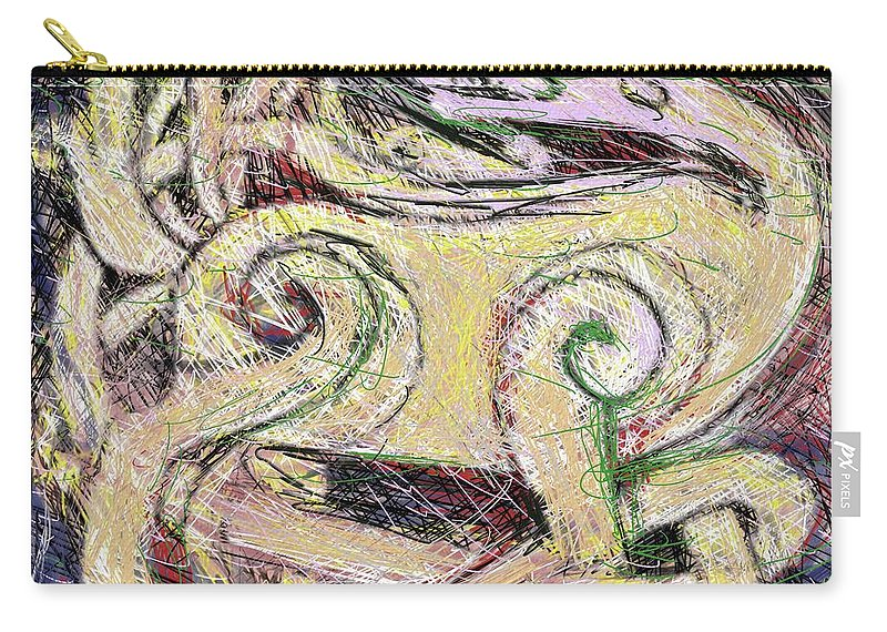 Painting Carry-all Pouch featuring the painting Celtic Layers by Thomas Suchyta